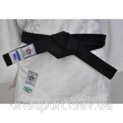 Пояс для кимоно GREEN HILL Olympic IJF 260 см чёрный (код 179-451797), фото 2