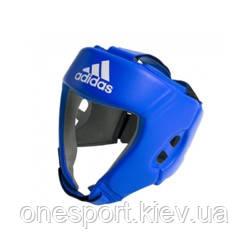 Шлем боксёрский ADIDAS AIBA M синий + сертификат на 200 грн в подарок (код 179-613206)