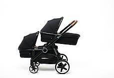 Детская универсальная коляска для двойни 2 в 1 Babyzz Dynasty (2 люльки+ 2 прогулки), фото 3