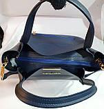Брендовая женская сумка Michael Kors черная с красным кантиком 32*29 см, фото 3