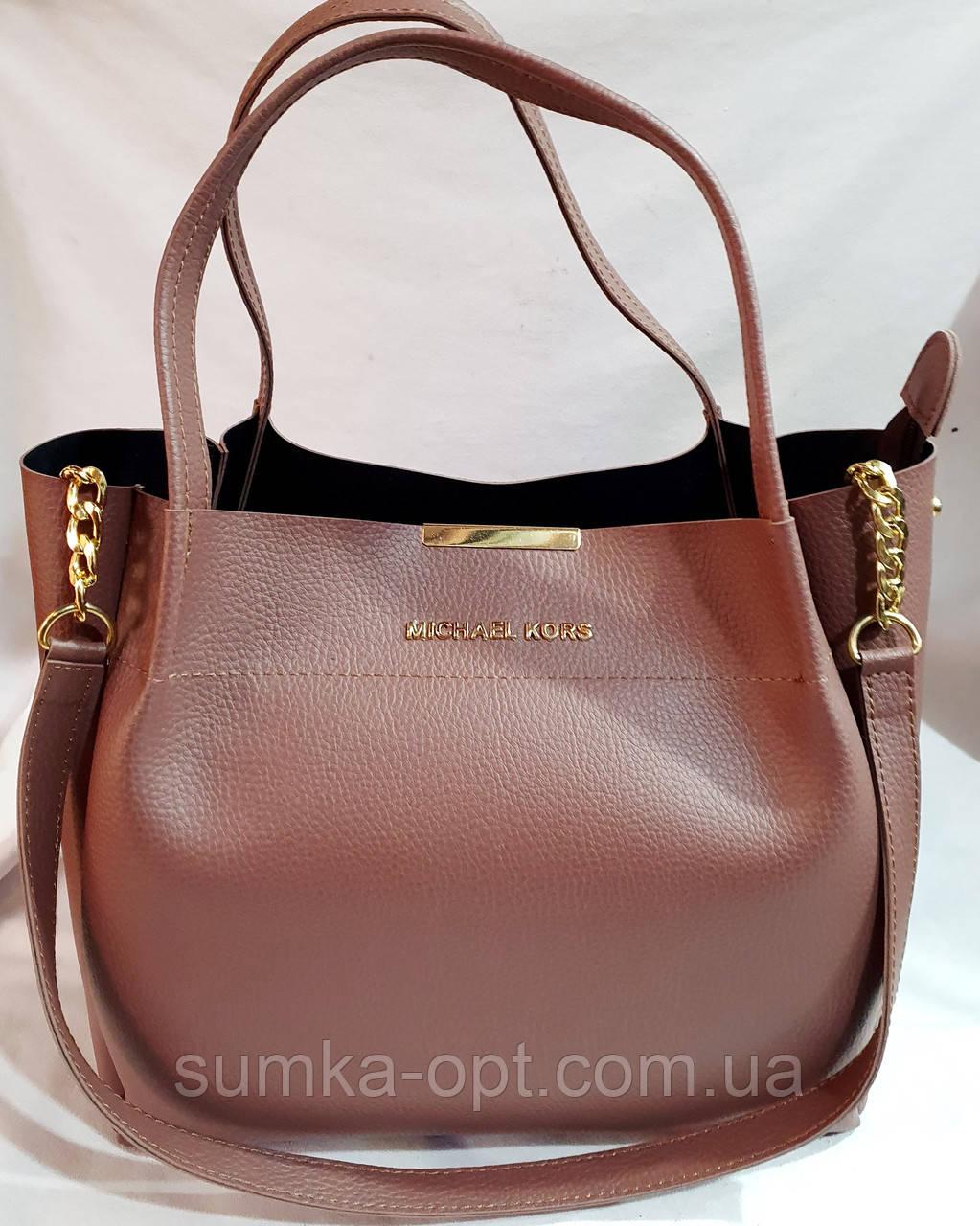 Брендовая женская сумка Michael Kors сиреневая  32*29 см