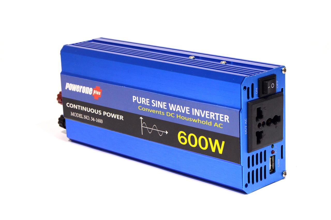 Преобразователь Напряжения (Инвертор) Powerone 12- 220V - 600W - Чистая Синусоида