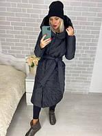 Куртка зимняя женская Пальто Курточка длинная женская Пальто зимнее Дутая куртка женская Теплое пальто Пуховик