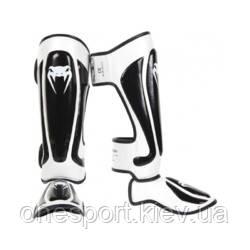 Защита ног VENUM Predator Standup Shin guards M чёрный/белый + сертификат на 200 грн в подарок (код