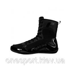 Боксерки FIGHTING S2 GEL Superior Boxing Shoes US 13 (45) чёрный + сертификат на 200 грн в подарок (код, фото 2