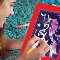 Светящаяся электронная доска для рисования, 3D доска для рисования Magic pad, 3D набор для рисования! Топ