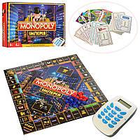 3801 Настольная игра Монополия, игр.поле,фишки, карточ, терминал,зв,на бат,в кор,39-2