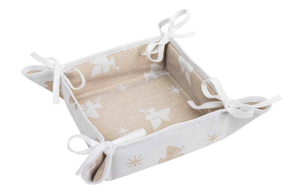 Хлебница новогодняя тканевая квадратная 20х20 хлібничка новорічна різдвяна хлібниця