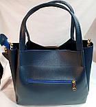 Брендовая женская сумка Michael Kors черная 32*29 см (натуральная замша), фото 4