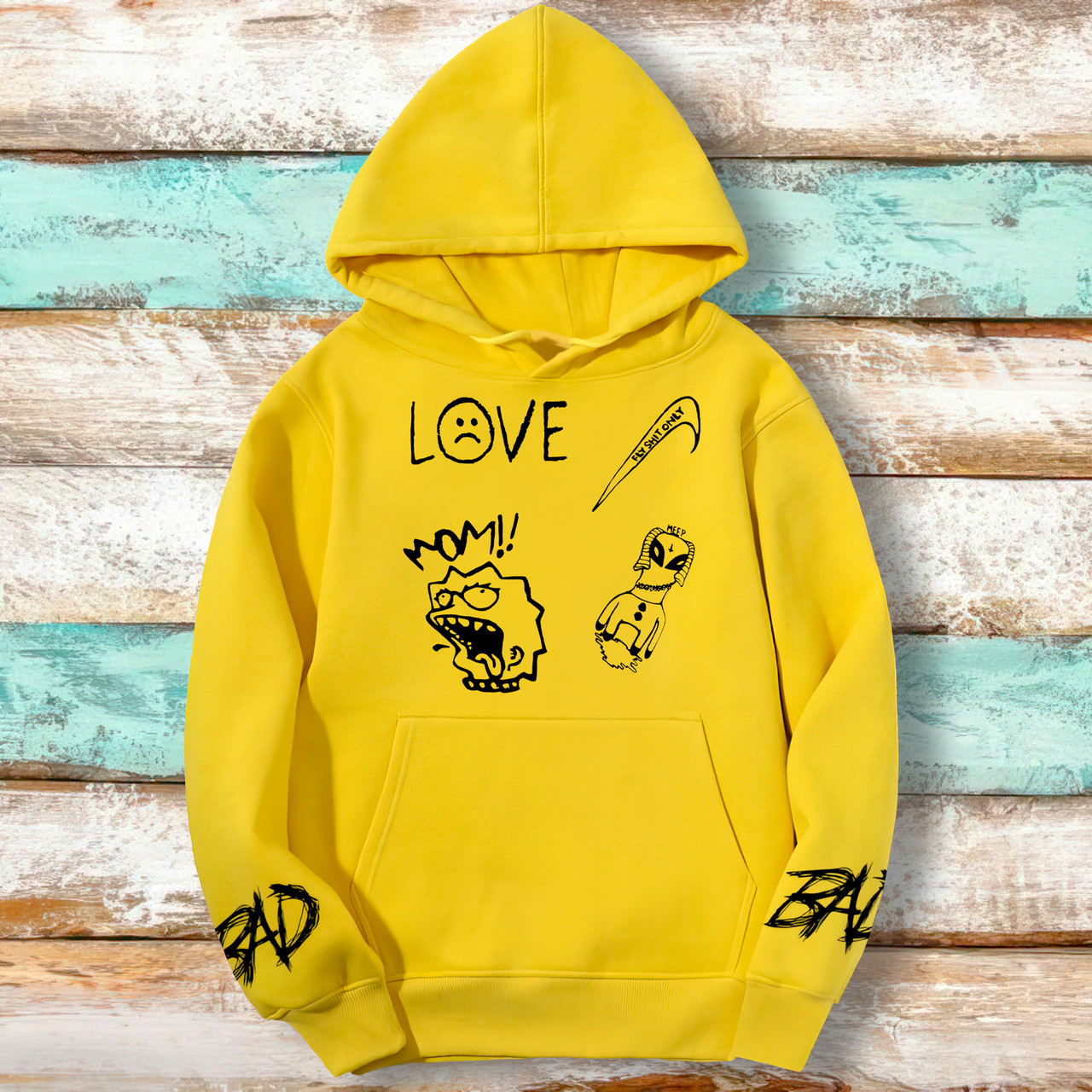 Худи A SHO Lil Peep L желтый