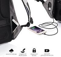 Рюкзак Bobby Антивор черный или серый с USB портом! Акция