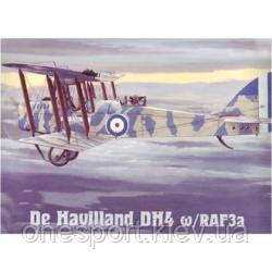 Пластиковая модель самолета Havilland DH4 w/RAF3a (код 200-106985)