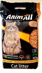 Наповнювач деревне AnimAll (АнимАлл) без аромату 3кг для котячого туалету