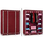 Шкаф тканевый складной STORAGE WARDROBE 88130 на 3 секции  130х45х175 см, фото 3