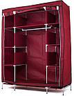 Шкаф тканевый складной STORAGE WARDROBE 88130 на 3 секции  130х45х175 см, фото 4