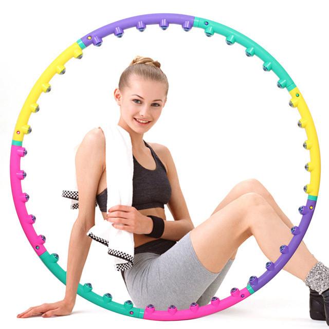 Массажный хулахуп для похудения и коррекции талии Massage Hoop 1108 диаметр 96 см, массажный обруч
