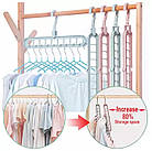 Вешалка-органайзер для одежды Wonder Hanger Magic Hanger Clothes ( Чудо-вешалка ) 2 шт в наборе, фото 2