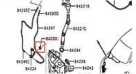 Кольцо уплотнительное насоса омывателя 8260A161 MITSUBISHI