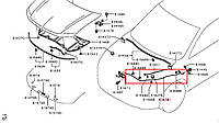 Трос открывания капота 5910A078. MITSUBISHI