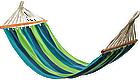 Летний гамак 200х80 см с планкой, гамак хлопковый 100%, гамак подвесной, гамак радужный, фото 4