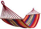 Летний гамак 200х80 см с планкой, гамак хлопковый 100%, гамак подвесной, гамак радужный, фото 5