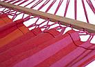 Летний гамак 200х80 см с планкой, гамак хлопковый 100%, гамак подвесной, гамак радужный, фото 7