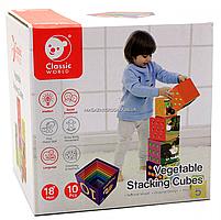 Развивающие игрушки CLASSIC WORLD кубики-трансформеры «Овощи» (20028), фото 2