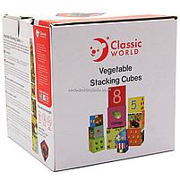 Развивающие игрушки CLASSIC WORLD кубики-трансформеры «Овощи» (20028), фото 3