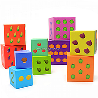 Развивающие игрушки CLASSIC WORLD кубики-трансформеры «Овощи» (20028), фото 4
