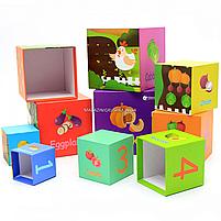 Развивающие игрушки CLASSIC WORLD кубики-трансформеры «Овощи» (20028), фото 8