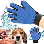 Перчатка для вычесывания шерсти True Touch домашних животных, перчатка для чистки животных, фурминатор,, фото 6