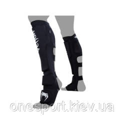 Защита ног VENUM Kontact Evo Shinguards XL чёрный/белый + сертификат на 100 грн в подарок (код 179-578051)