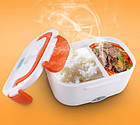Ланчбокс с подогревом от 220 вольт, бокс для еды с подогревом от сети 220V, фото 3