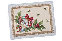 Салфетка подкладка тканевая под тарелку гобеленовая новогодняя 37 х 49 см