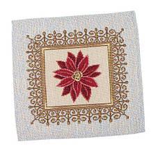 Салфетка подкладка тканевая под тарелку гобеленовая новогодняя 17 х 18 см