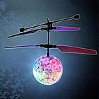 Летающая игрушка Flying Ball, шар вертолет, летающая игрушка, сенсорный летающий шар, светящийся шар, фото 3