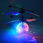 Летающая игрушка Flying Ball, шар вертолет, летающая игрушка, сенсорный летающий шар, светящийся шар, фото 4