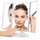 Настольное зеркало для макияжа с подсветкой раскладное , сенсорный экран, 22 LED лампы, Лед зеркало для макияж, фото 4