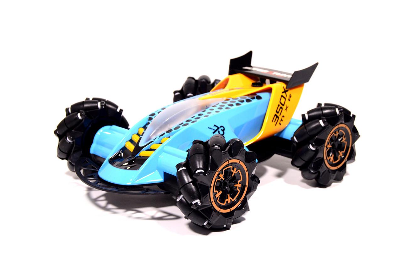 Машинка на радиоуправлении Drifter Turbo Air-Released с подсветкой и музыкой синяя