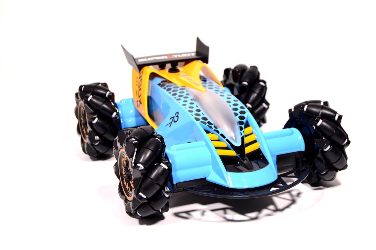 Машинка на радиоуправлении Drifter Turbo Air-Released с музыкальной подсветкой синяя