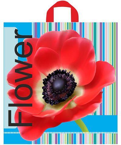 """Пакет полиэтиленовый цветной с петлевой ручкой Полоски """"Мак"""" (40х43) Леони, 50 шт\уп"""