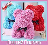 Мишка из искусственных роз Teddy Bear (Мишка Тедди) - необычный подарок для любимого человека / Тренд 2018