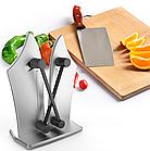 Точилка для ножей Bavarian Edge Knife Sharpener настольная, ножеточка, цвет серебристый, фото 6