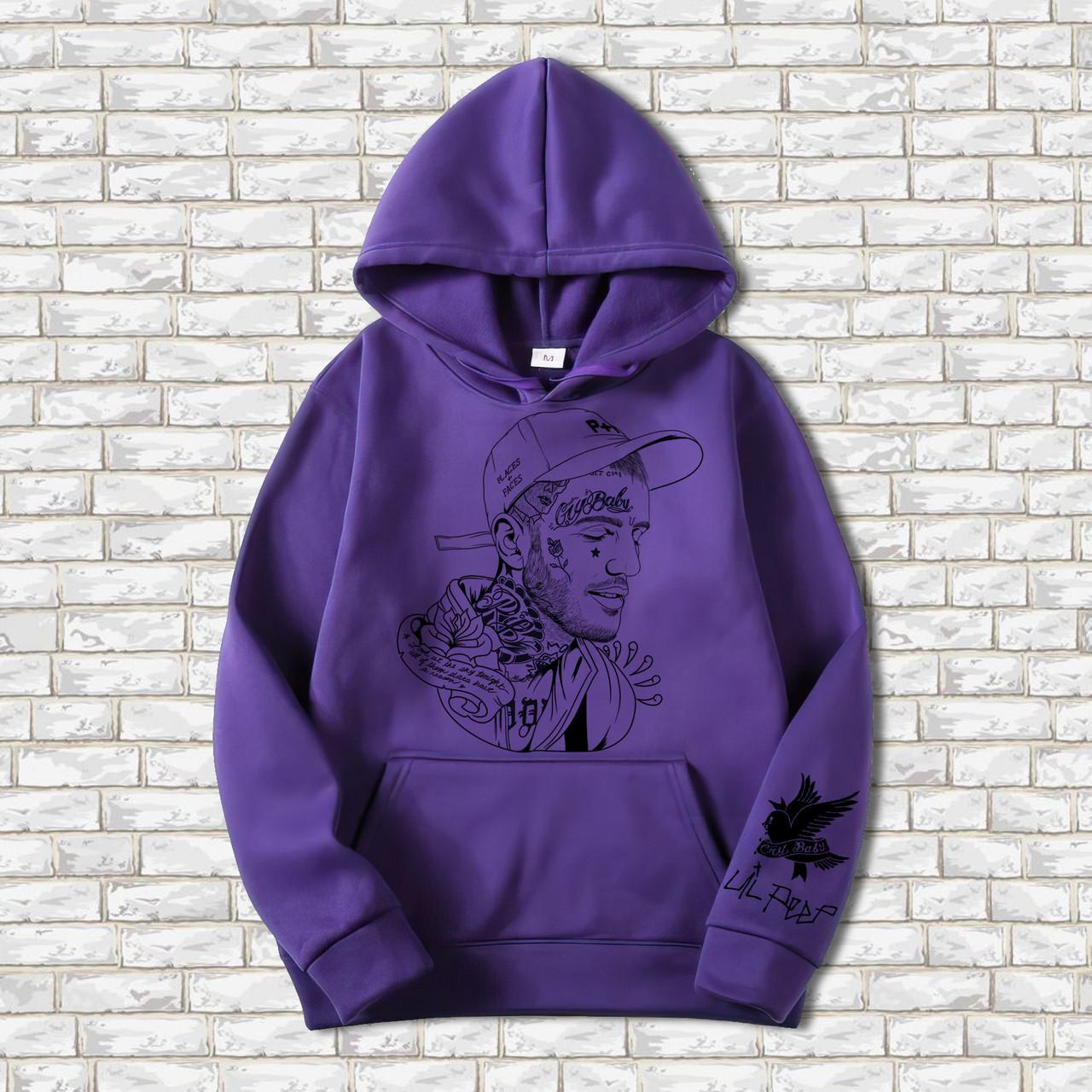Худи  A SHO Lil Peep M фиолетовый