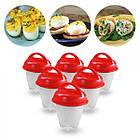 Силиконовые формы для варки яиц Hard Boil Egg Container без скорлупы набор из 6шт, яйцеварка в формах, фото 4