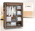 Тканевый шкаф складной STORAGE WARDROBE KM-105 90х45х170 см, органайзер для одежды, фото 2