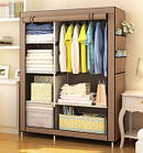 Тканевый шкаф складной STORAGE WARDROBE KM-105 90х45х170 см, органайзер для одежды, фото 5