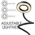 Подсветка для стриминга +гибкий держатель для смартфона Live Stream, кольцо для селфи, освещение для стриминга, фото 5