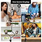 Подсветка для стриминга +гибкий держатель для смартфона Live Stream, кольцо для селфи, освещение для стриминга, фото 6