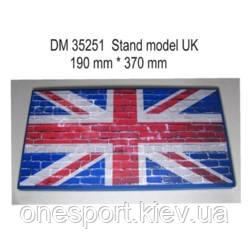 Підставка для моделей бронетехніки. Тема: Великобританія (370x190 мм) (код 200-391687)